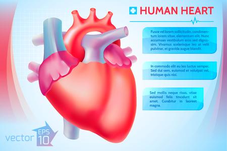 心臓医療テンプレート 写真素材 - 87734833