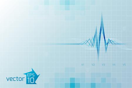 医療心肺機能テンプレート  イラスト・ベクター素材