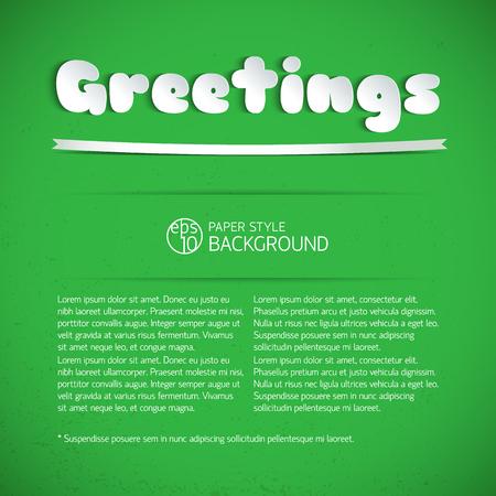 Green Greeting Signature Stock Vector - 87886355