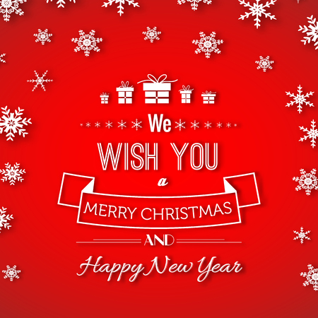 Christmas And New Year Greeting Poster Иллюстрация