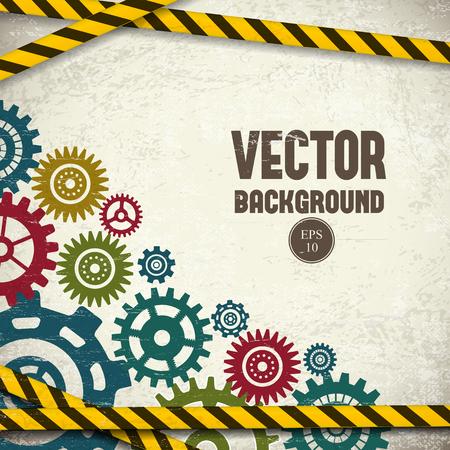 Industrial background vector illustration. Stok Fotoğraf - 88044075