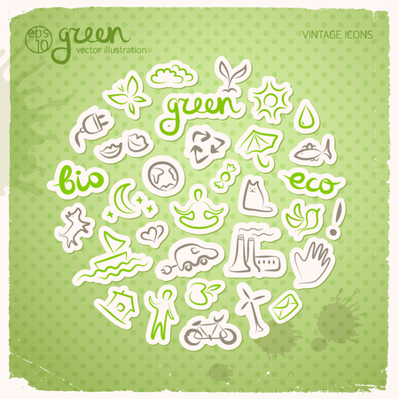 Ecological harmony concept vector illustration. Stock Vector - 88044085