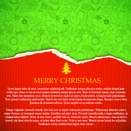 Merry Christmas Greeting Paper