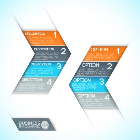 Infographics 디자인 템플릿.
