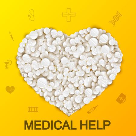 Abstract medical illustration. Illustration