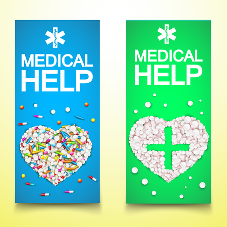 Healthy Medical Vertical Banners.