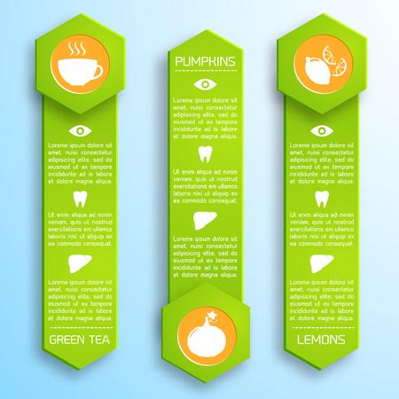 適切な栄養インフォ グラフィック テンプレート