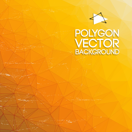 Abstract geometric shapes background with gradient yellow and orange colors vector illustration Çizim