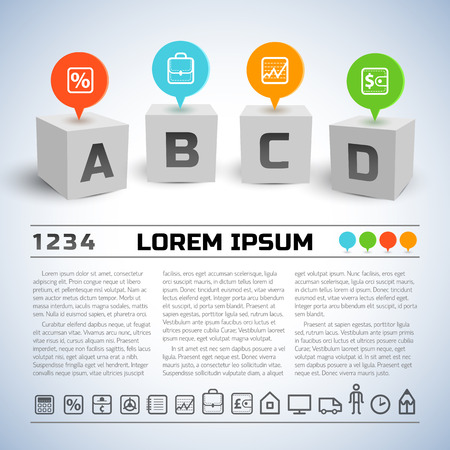 Abstract Business Geometric Infographics