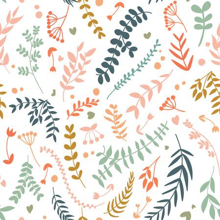 Abstract Botanical Seamless Pattern