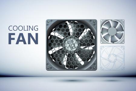 Cooling ventilation system design concept. Ilustracja