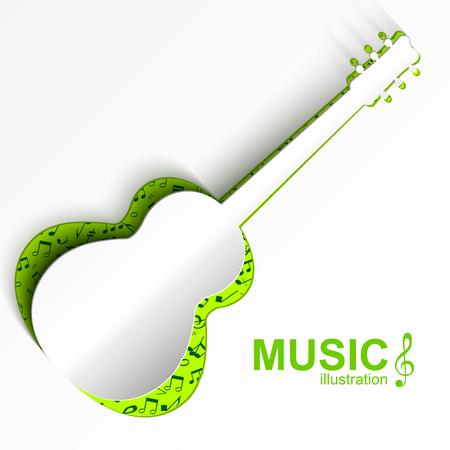 楽器のコンセプトです。  イラスト・ベクター素材