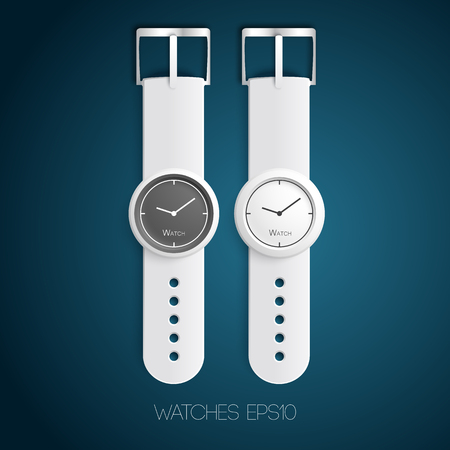 Mechanical fashionable watches. Illustration