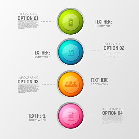 Colorful Business Circles Background