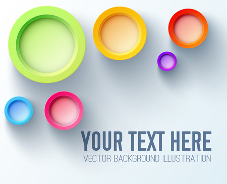 Colorful Design Concept With Bright Rainbow 3d Circles