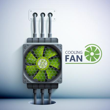 Refroidisseur d'ordinateur en plastique vert Banque d'images - 88478643