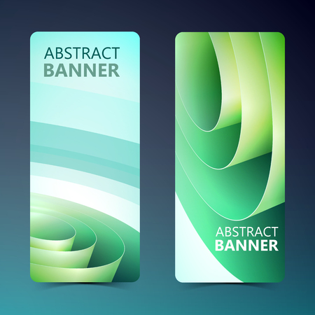Abstract Vertical Banners Çizim