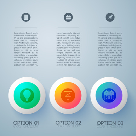 Gradient Business Buttons Background