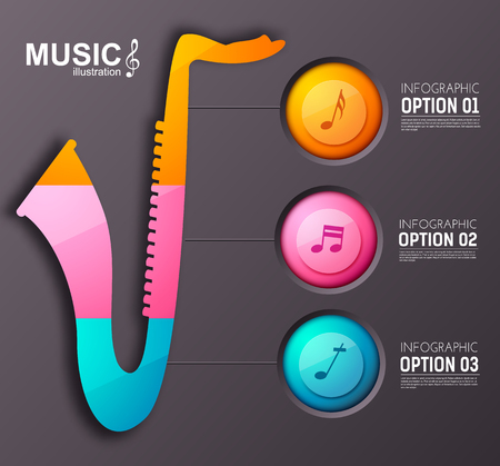 Music Instrument Infographic Template