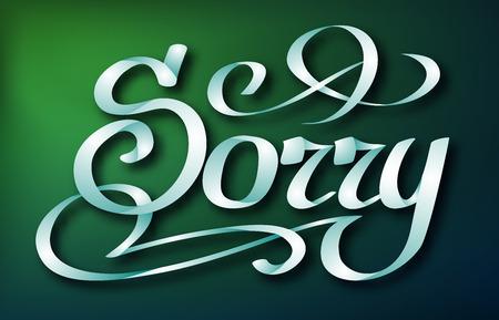 Calligraphic Inscription Design Concept Illustration