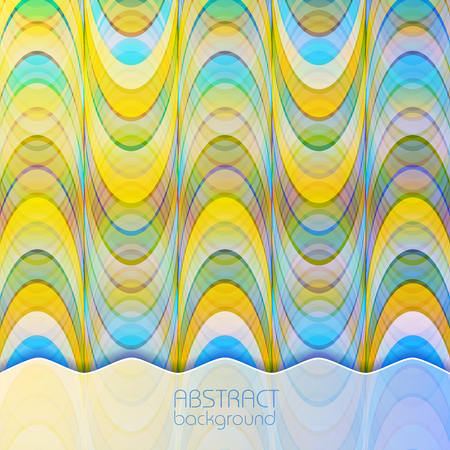 Abstract light dynamic background of repeating structure with colorful geometric shapes in overlay mosaic style vector illustration Illustration