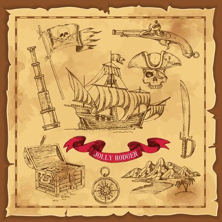 海賊要素手描き下ろしコンセプト