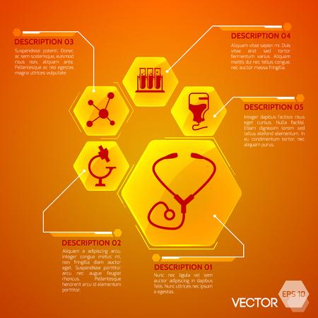 Medicine And Health Orange Poster
