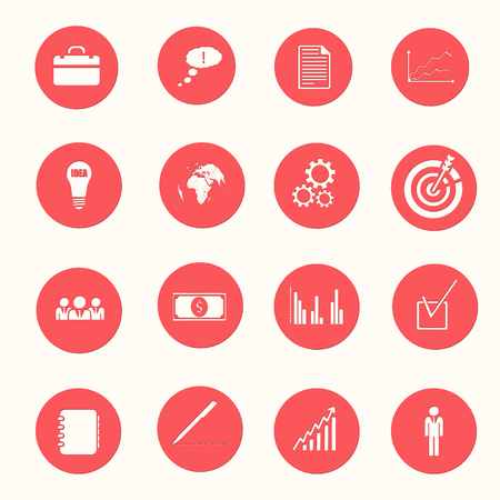 Business White Icons Collection