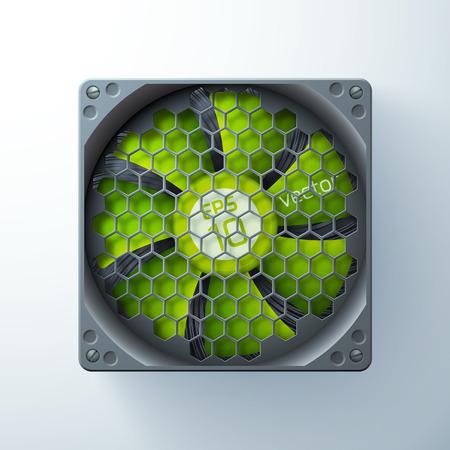 Vorlage für Computerkühler Standard-Bild - 88751456