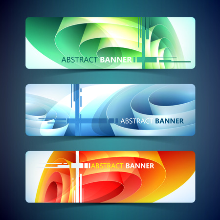 Abstract Horizontal Banners Illustration