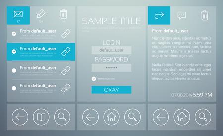 Mailbox User Interface Concept Illustration