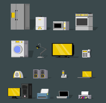 Modern Wireless Devices Collection Ilustração