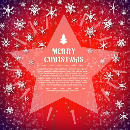 Merry Christmas card design