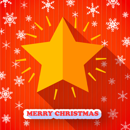 Merry Christmas Postcard Ilustração