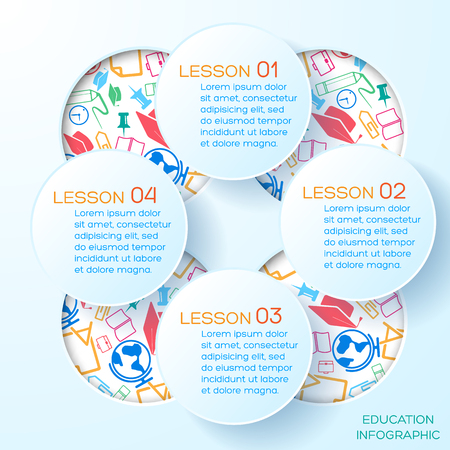 School Abstract Infographic Template Illustration