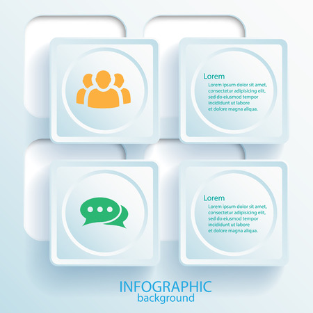 Abstract Business Infographic Elements Çizim