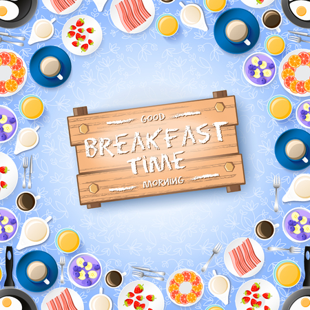 Colorful Breakfast Concept