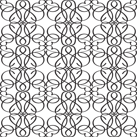 Abstract elegant monochrome seamless pattern with repeating interweaving structure in minimalistic style vector illustration Illustration