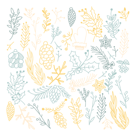Blue And Beige Leaves Seamless Pattern Illustration