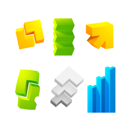 Realistic 3d Arrows Set Collection