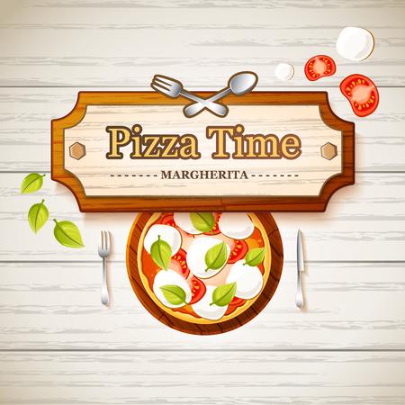 Tasty Pizza Margherita Template