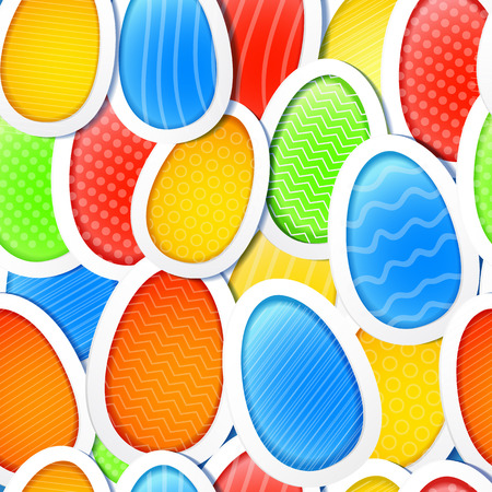 Easter Eggs Seamless Pattern Illustration