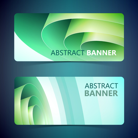 Rolled Paper Horizontal Banners Illustration