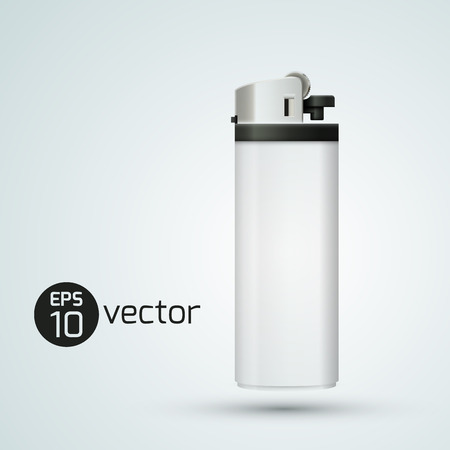 White Isolated Realistic Gas Lighter Illustration