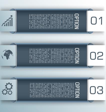 Three Gray Stylish Horizontal Banner Set