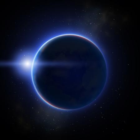 Moon Eclipse Illustration vector