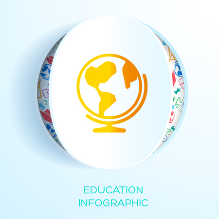 Education Learning Infographic Template. Illustration