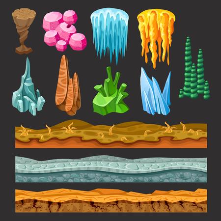 Kleurrijke Game landschapselementen instellen