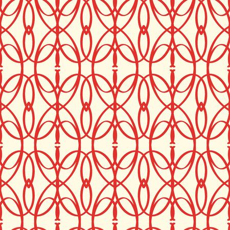 抽象的なベクトルのシームレスな赤い要素パターン
