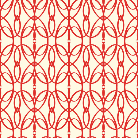 Abstract Vector Seamless Red Elements Pattern Ilustração